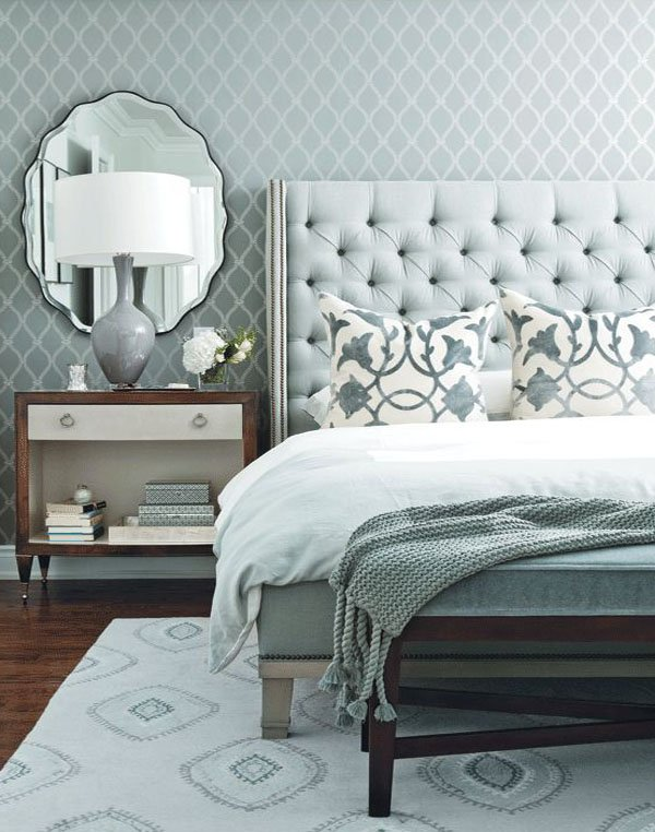 Monochromatic color combine for bedroom ideas