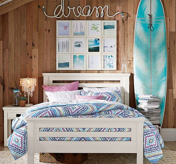 Themes for teenage girl bedroom for Bedroom beach theme ideas