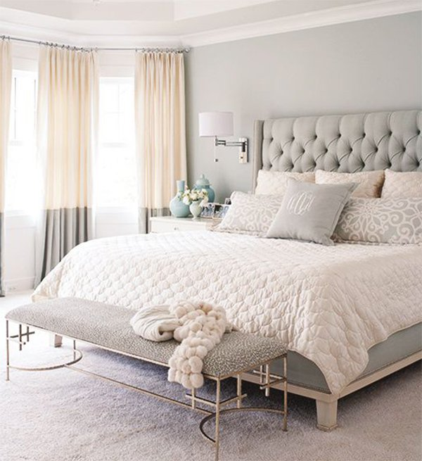 bedroom curtain idea for light bedroom design
