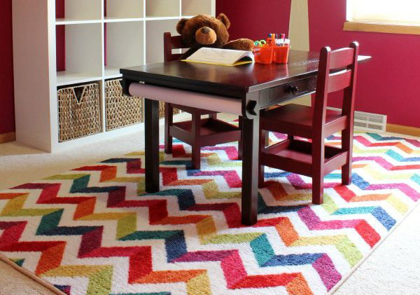 colorful carpet kid's room