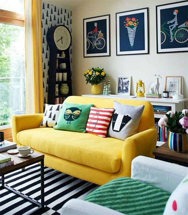 colorful pillows for living room seats