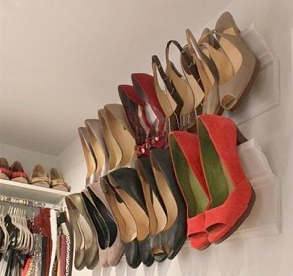 creative shoe storage idea