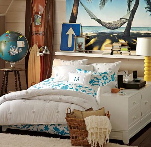 Themes for teenage girl bedroom for Bedroom ideas beach