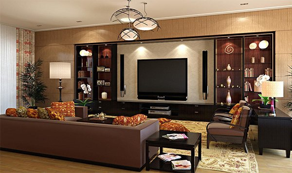 large modern living room design
