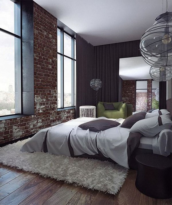 large stylish bedroom design