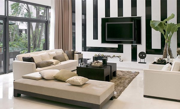 light modern living room design