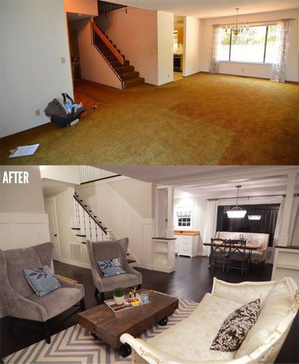 how to go about renovating a living room