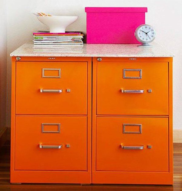 orange storage idea
