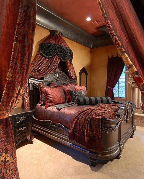 Red Victorian Bedroom victorian bedroom colors