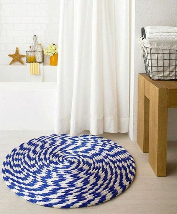 round rug for bathroom floor