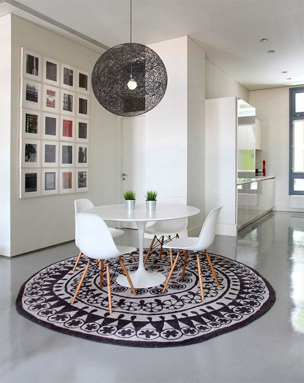 round rug for modern interior design