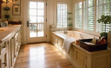 stylish bathroom flooring