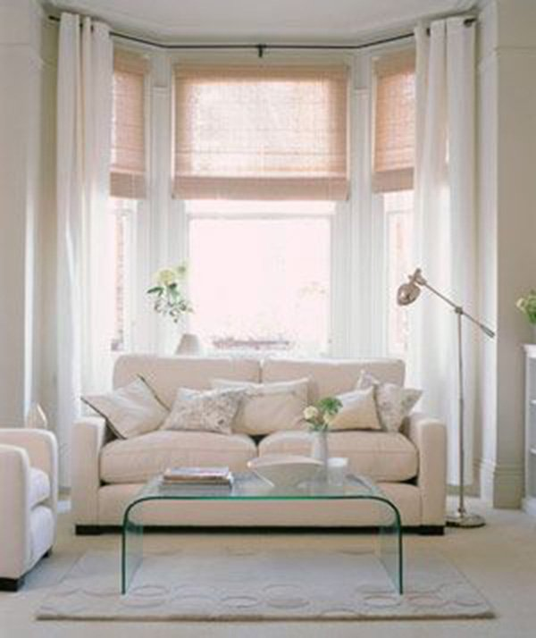 white living room with long windows