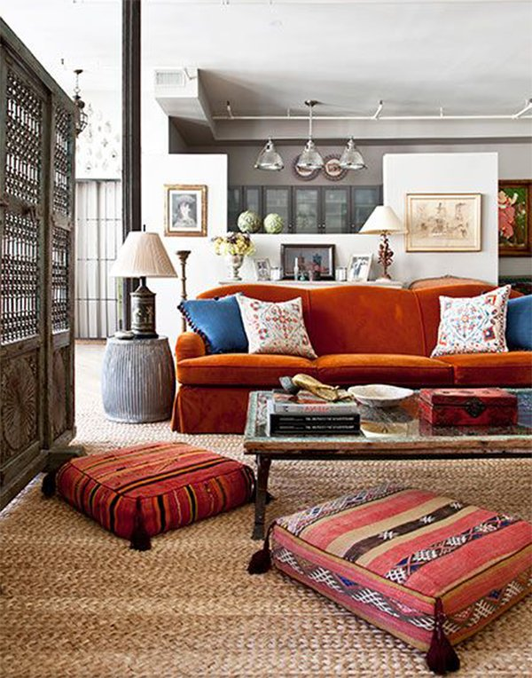 colorful ethnic interior design