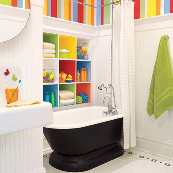 colorful kids bathroom design