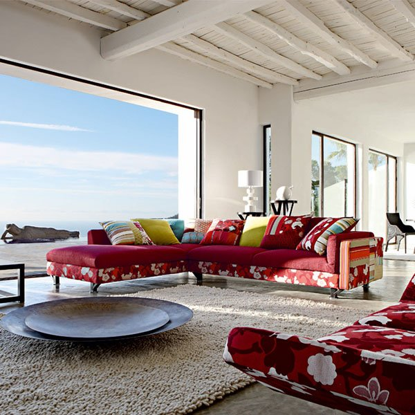 colorful modern furniture with red tones