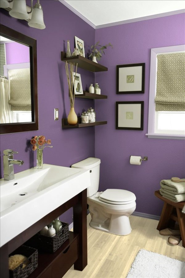 purple bathroom design