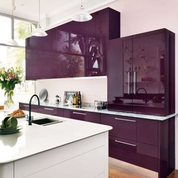 Royal Kitchen Design: Feel Royal With Purple Interior