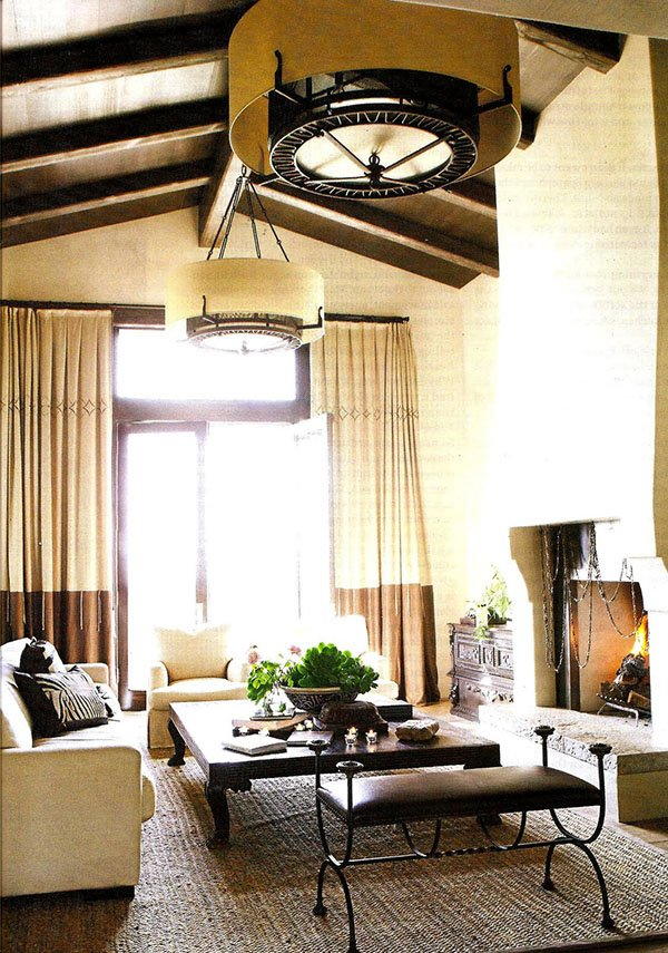 summer house rustic living room design