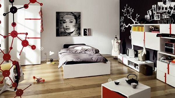 stylish teen bedroom design