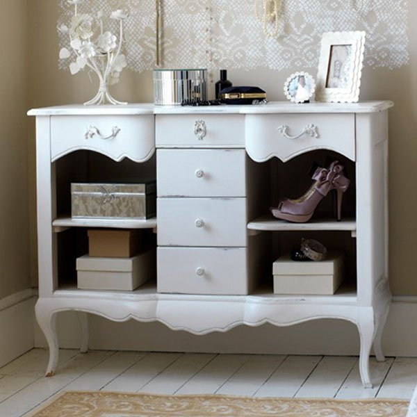 white antique furniture