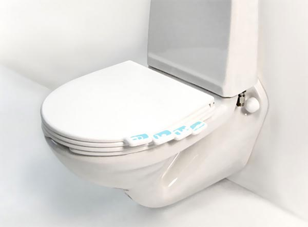 Tabbed toilet seat