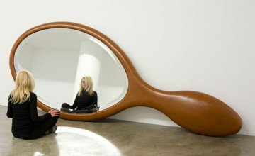amazing and creative wooden mirror