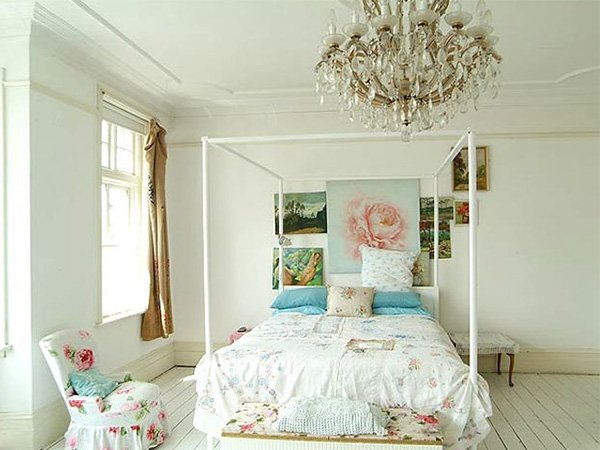 amazing white vintage bedroom design - Retro Bedroom Design