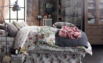 chic bedroom designed with vintage style