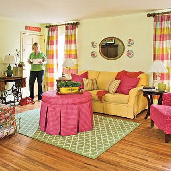 colorful cosy living room design
