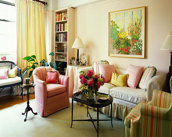 colorful natural living room design