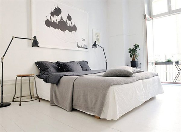cosy and white bedroom design