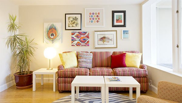 cosy bright colorful living room