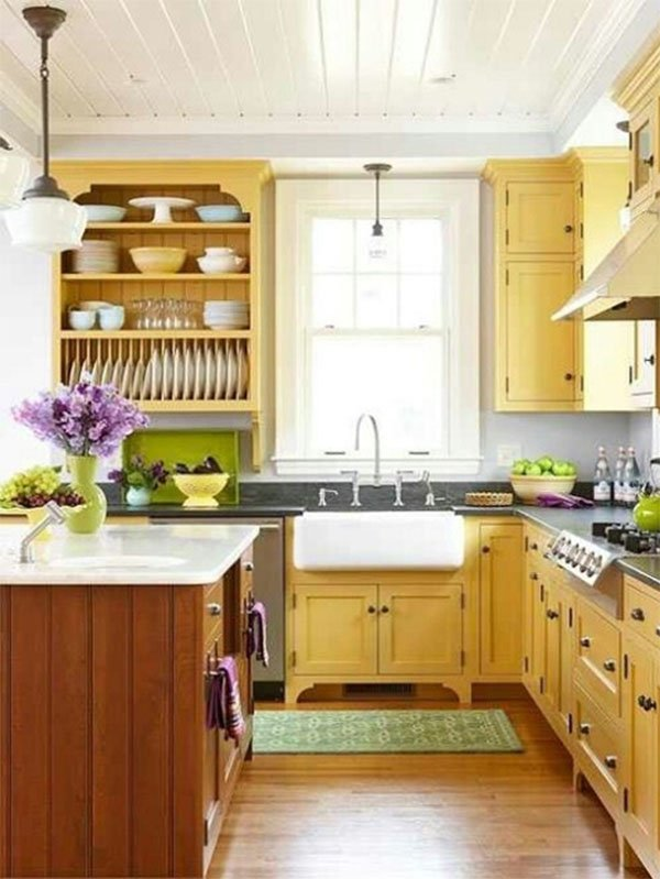 cute yellow kitchen