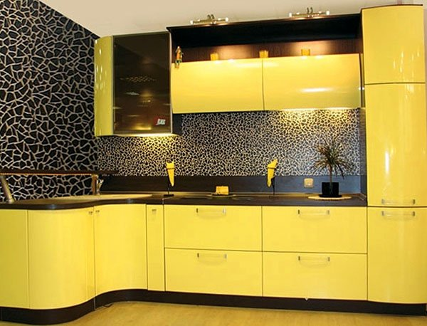 modern-stylish-yellow-kitchen-cabinet Contempary Wall Decorating Ideas Yellow Kitchen on yellow kitchen wall colors, yellow kitchen design ideas, yellow kitchen decor,