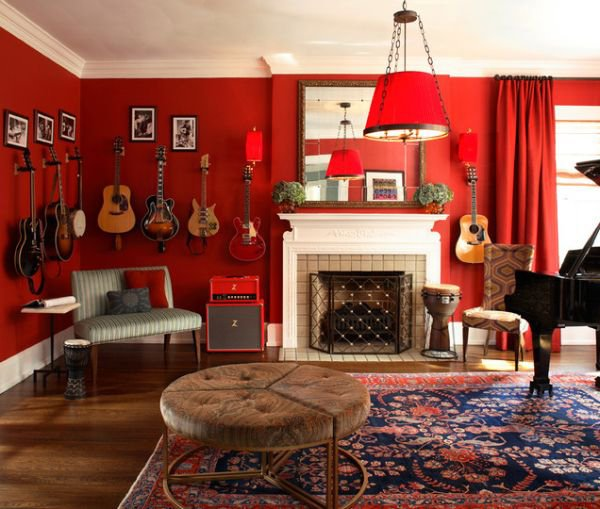 Red living room design ideas for Red room design ideas