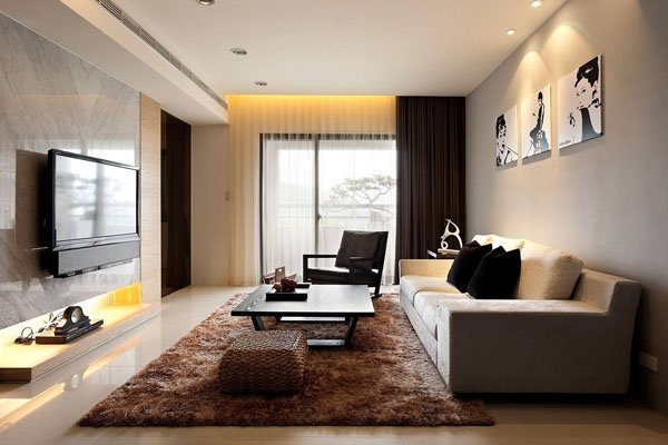 small stylish living room design