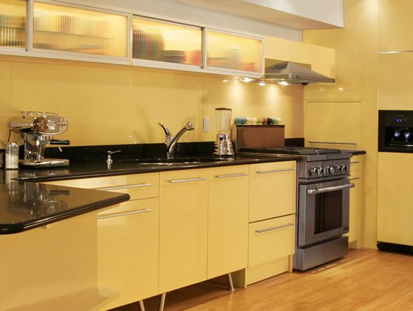 soft yellow kitchen design