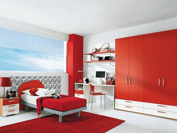 2015 2016 red bedroom design and decoration ideas