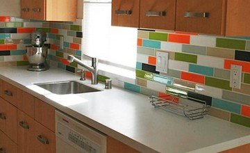 colorful creative kitchen backsplash