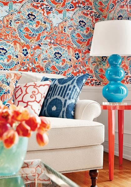 colorful wall design idea