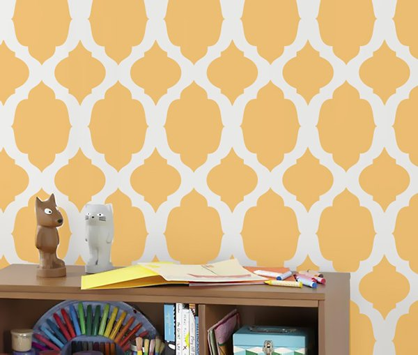 stylish stenciled wall