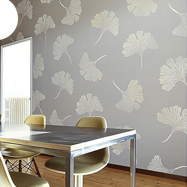 very stylish stenciled wall design