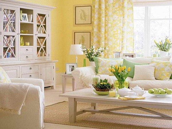 Yellow gray living room design ideas Yellow room design ideas