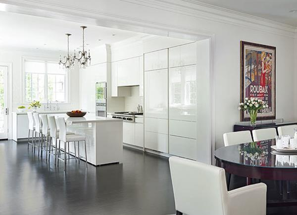 All white kitchen models for Kitchen design white