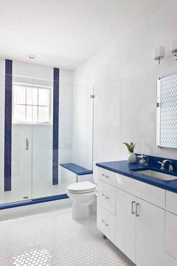 Blue and White Bathroom Decoration 10