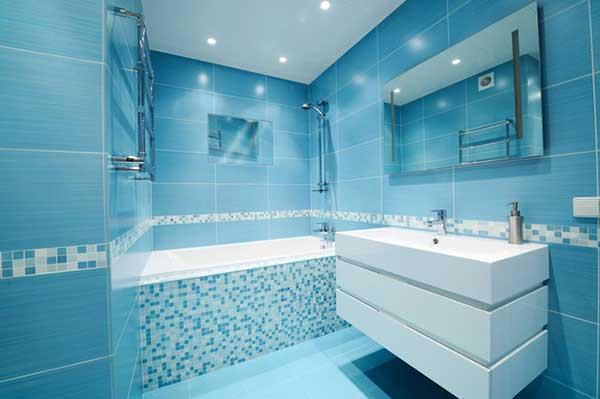 Blue and White Bathroom Decoration 17