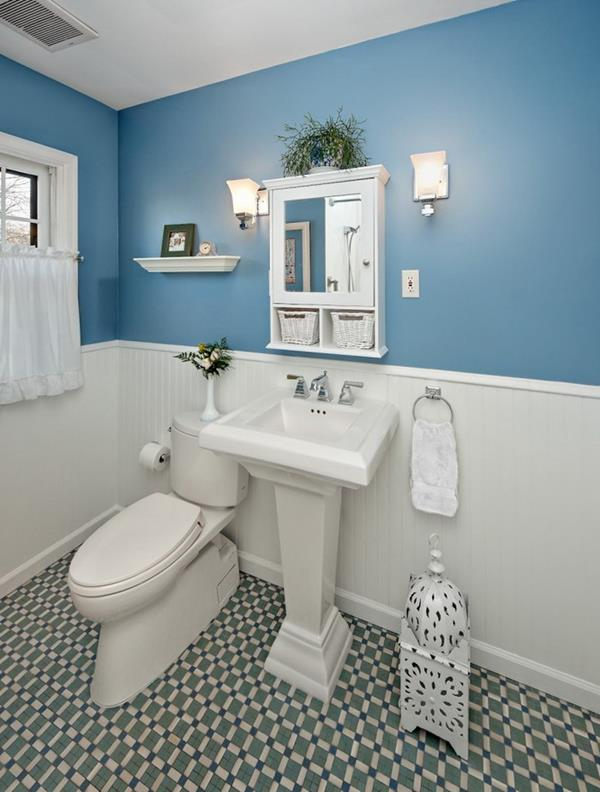 bathroom ideas blue and white blue and white bathroom decoration ideas 22135 | Blue and White Bathroom Decoration 5