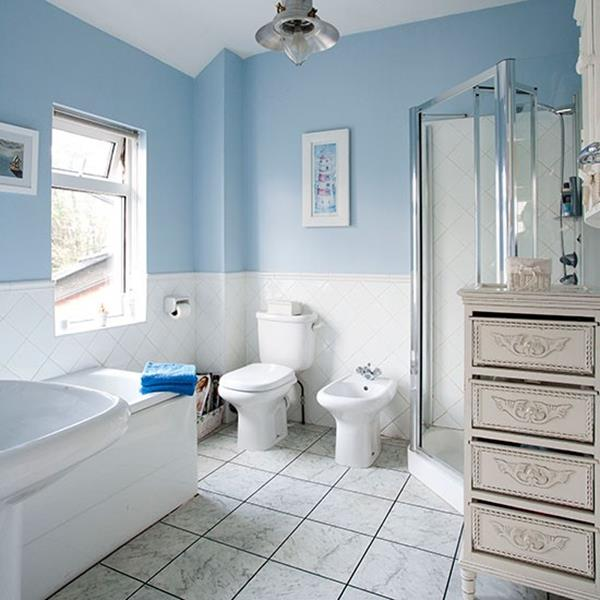 blue and white bathrooms blue and white bathroom decoration ideas 17446