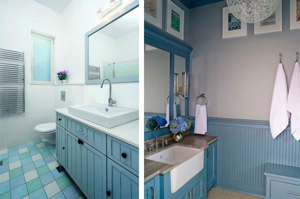 Blue Gray Color Combinations for Bathroom